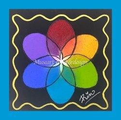 画像1: Museart chalk&design【カラーサークルフラワー】★体験・無料動画・約60分・画材キット付